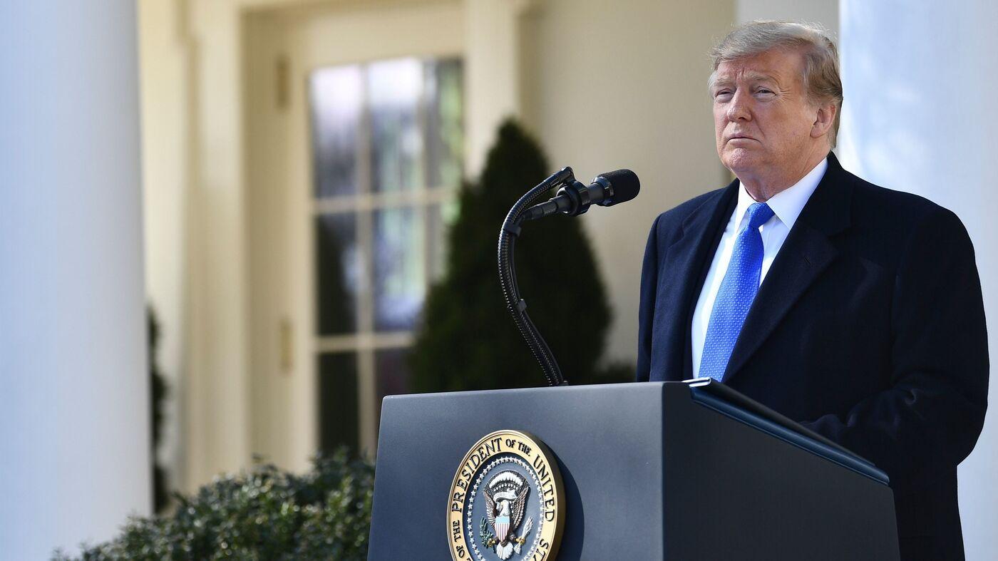 Trump Declares National Emergency On U.S.-Mexico Border : NPR