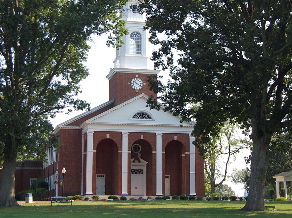 The Annie Merner Pfeiffer Chapel is seen on the campus of Bennett College in Greensboro, N.C. The college, one of two historically black colleges for women, is fighting to maintain its accreditation. (Bennett College)