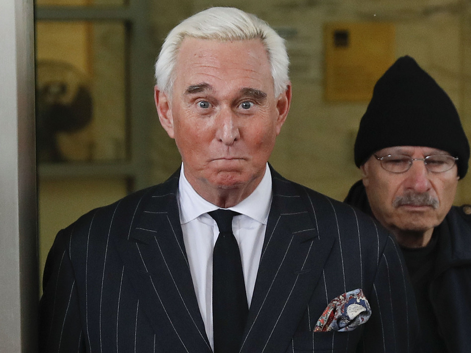 Roger Stone has been ordered to appear in court on Thursday following an Instagram post that criticized the judge in his case. The judge may reconsider her gag order or Stone's bail. (Pablo Martinez Monsivais/AP)