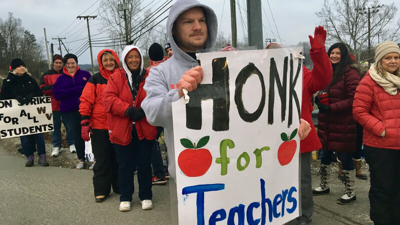 West Virginia's Education Bill Dies As Teachers Strike : NPR