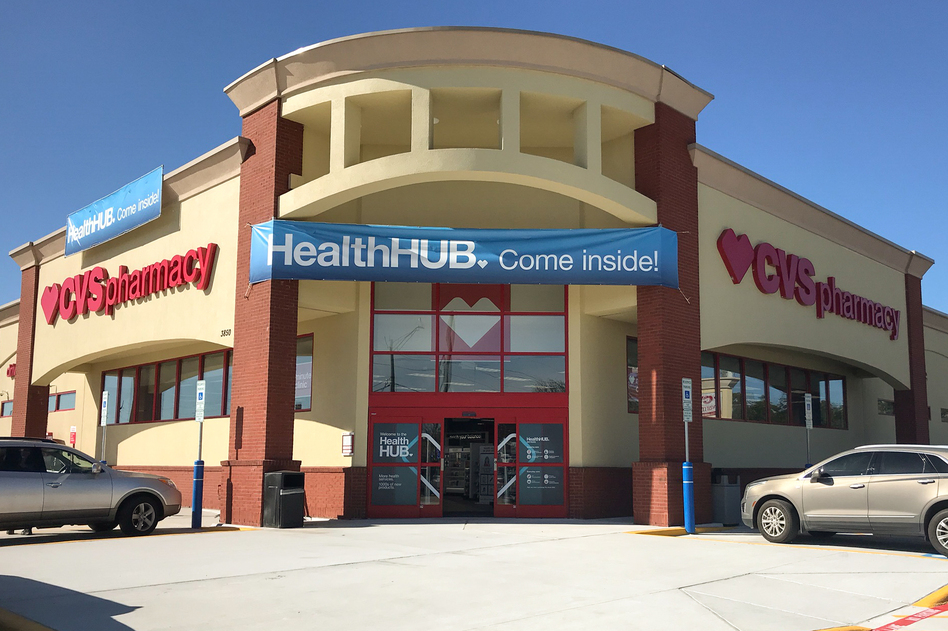 "CVS plans to transform some of its stores into ""health hubs,"" retail locations revamped to include more health care services and products. One of the first is in Spring, Texas, a suburb of Houston. (Alison Kodjak/NPR)"