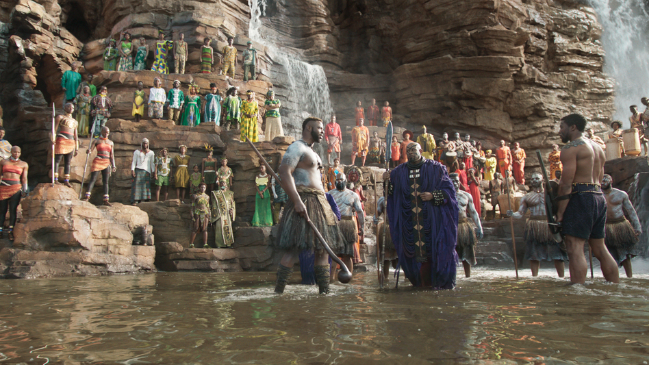Production designer Hannah Beachler was responsible for devising the look of <em>Black Panther</em>, from the waterfall amphitheaters of Wakanda to its high-tech laboratories and aircraft. (Marvel Studios)