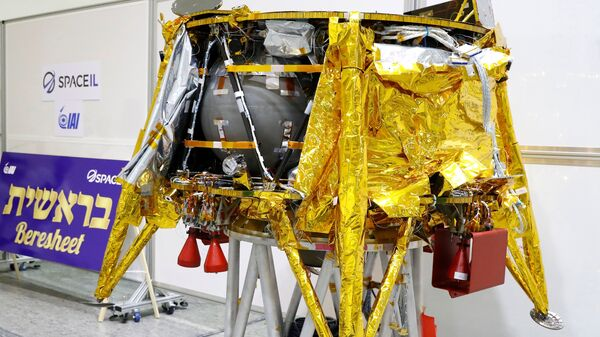 The Israeli nonprofit SpaceIL displayed the spacecraft in December in Yehud, east of Tel Aviv, and added a time capsule for it to carry to the moon.