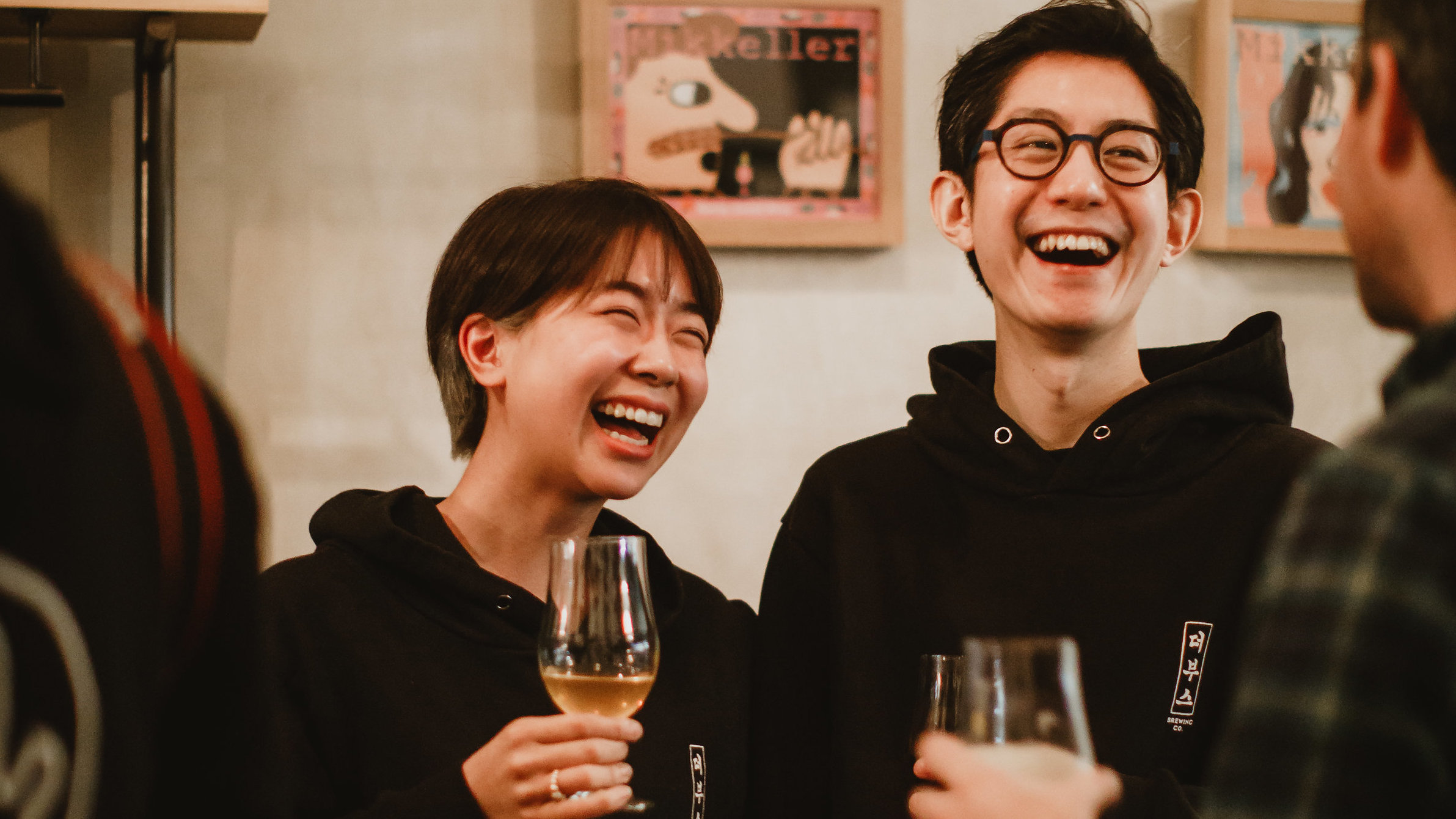 After starting a brewery in Seoul, Booth Brewery co-founders Heeyoon Kim (left) and Sunghoo Yang moved their operations to California to make Korean beer and ship it back.