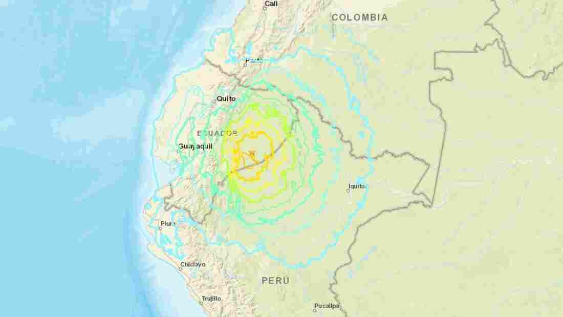 Magnitude 7.5 earthquake hits Peru-Ecuador border region; no tsunami warning