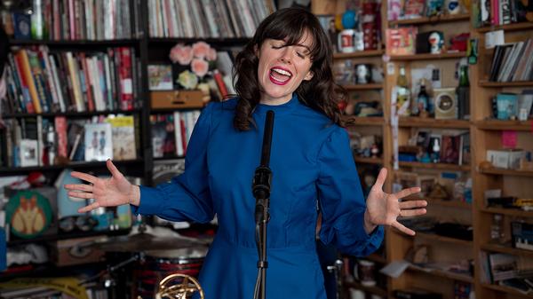 Natalie Prass performs a Tiny Desk Concert on Jan. 28, 2019 (Amr Alfiky/NPR).