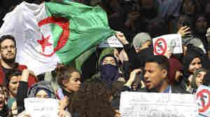 Students Protest Algerian President Abdelaziz Bouteflika's Bid For Fifth Term