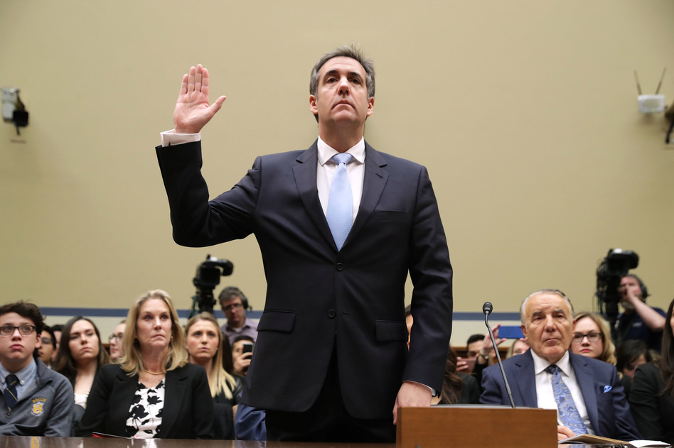 Michael Cohen, former attorney and fixer for President Trump, testifies before the House Oversight and Government Reform Committee on Wednesday. (Chip Somodevilla/Getty Images)
