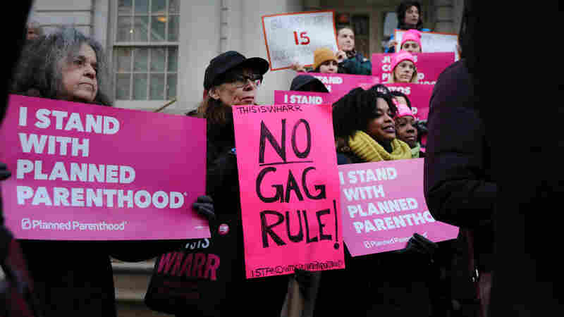 Foes Of Trump's Restrictions On Family Planning Clinics See Law On Their Side