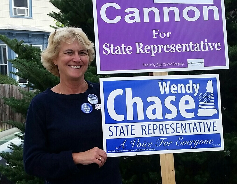 Wendy Chase was elected to the New Hampshire House in November. Her mission to pass paid parental leave was inspired by the decades of care her daughter required after being diagnosed with cancer at age 2. (Glenn Chase/Courtesy of Wendy Chase)