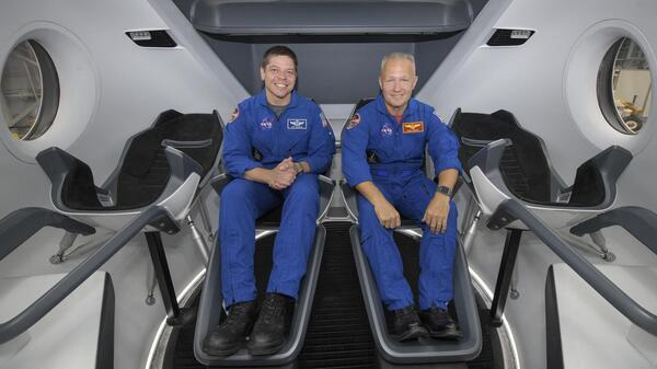 Assuming the Crew Dragon flight tests go well, the first NASA astronauts set to launch aboard SpaceX's capsule are Bob Behnken (left) and Doug Hurley.
