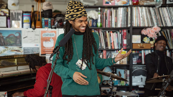 Phony Ppl performs a Tiny Desk Concert on Jan. 31, 2019 (Amr Alfiky/NPR).