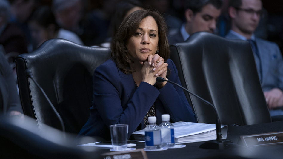 Sen. Kamala Harris, D-Calif., one of several Senate Democrats who are running for president in 2020, has been cautious to back a proposal to end the legislative filibuster. (J. Scott Applewhite/AP)