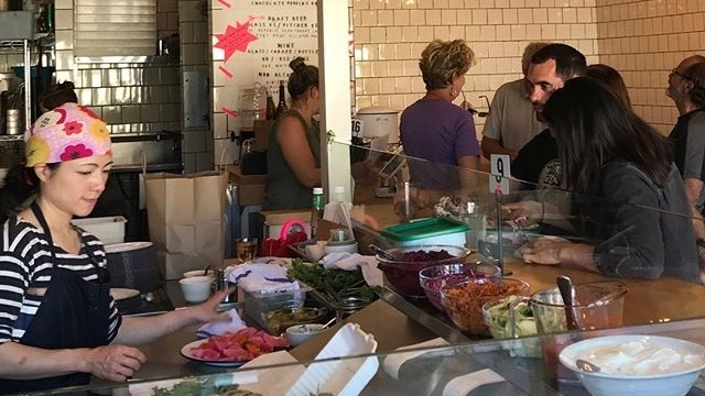 Allison Hopelain, owner of The Kebabery in Oakland, Calif., says the cafeteria-style restaurant reflects the changing tastes of customers who now want to grab a quick, affordable meal and head back to their lives.