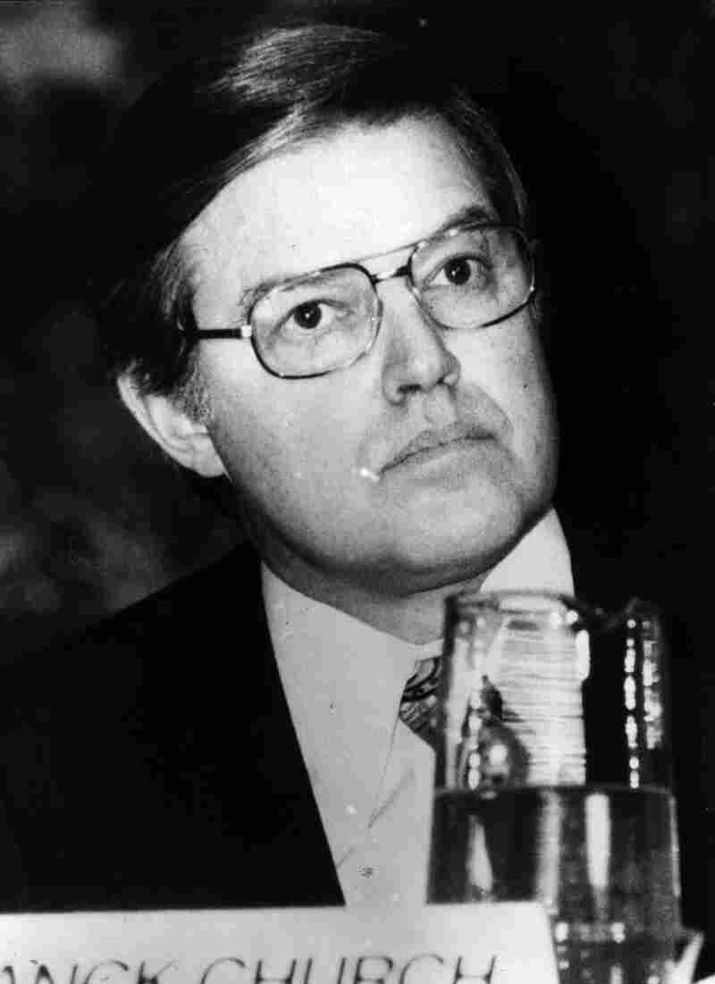 Former Democratic Senator Frank Church of Idaho, in 1976. He chaired the Church Committee, which investigated abuses by the CIA, NSA, FBI, and the IRS in 1975. The investigation revealed government abuses of power, such as the FBI systematically spying on and harassing Martin Luther King, Jr. and other civil rights activists, and the CIA secretly drugging people with LSD without their consent.