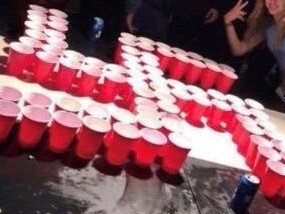 1d3b66d46a8 This image from Twitter shows red plastic cups arranged in a swastika shape  at a party reportedly attended by Newport Beach students. Twitter hide  caption