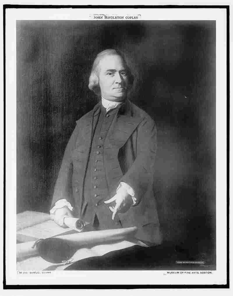 Samuel Adams was one of the Founding Fathers of the United States. He argued Britain's taxations were part of an elaborate conspiracy to eventually enslave American colonists.