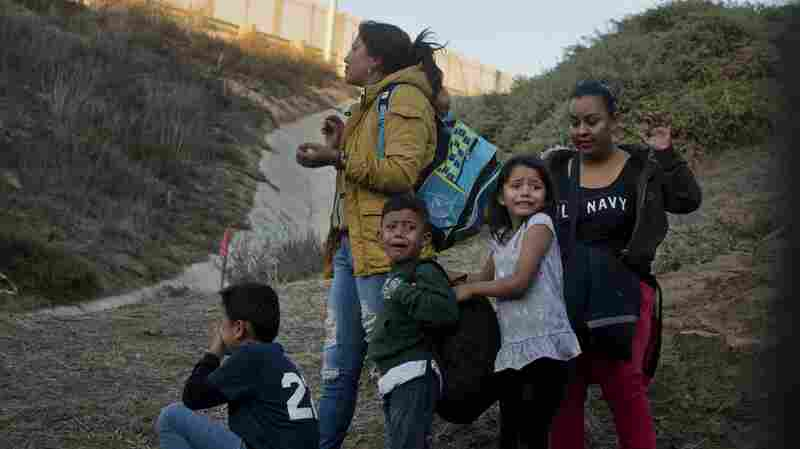 Migrant Families Arrive In Busloads As Border Crossings Hit 10-Year High