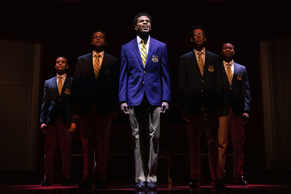 In <em>Choir Boy</em>, a gifted singer endures anti-gay bullying at his all-boys prep school. (Matthew Murphy/Courtesy of Manhattan Theatre Club)