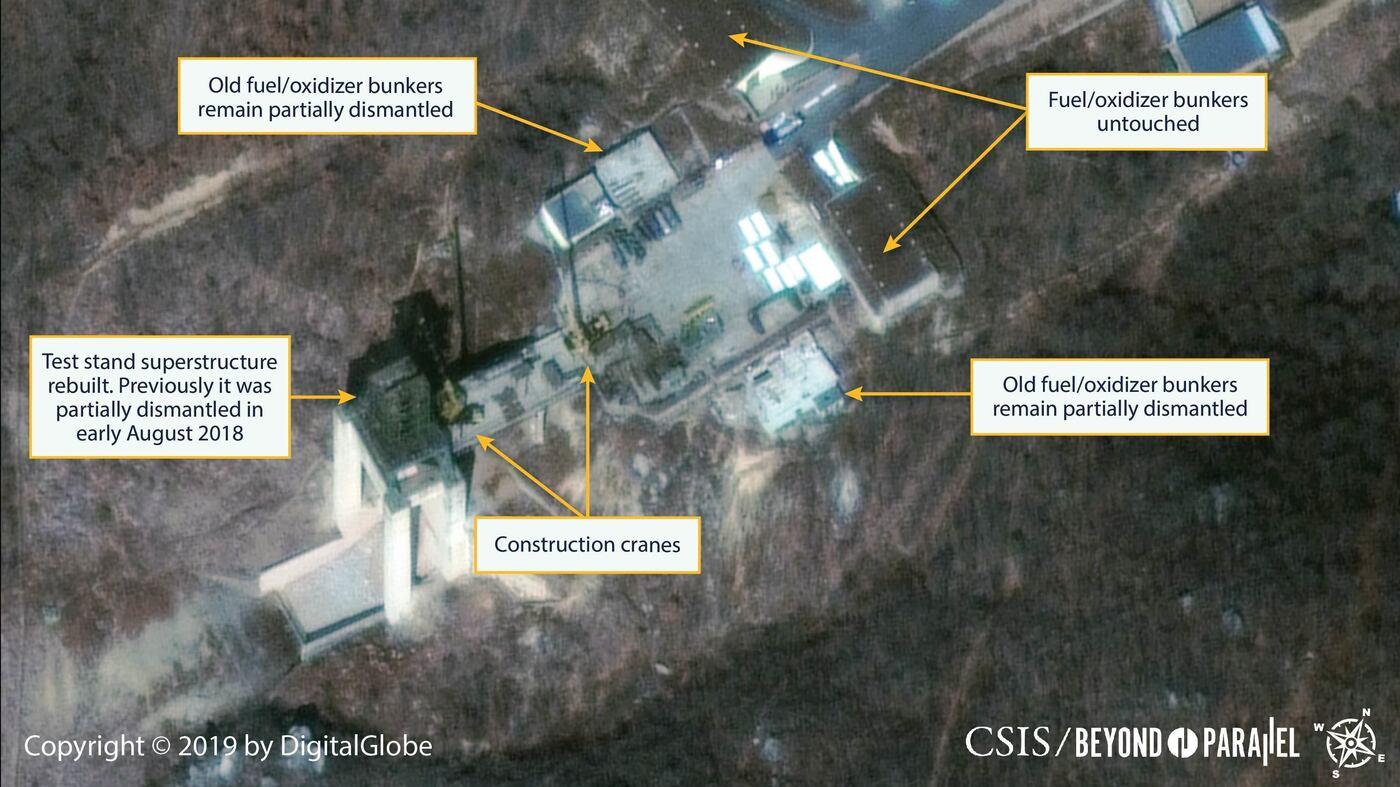 North Korea Seen Reassembling Rocket Test Site Days After