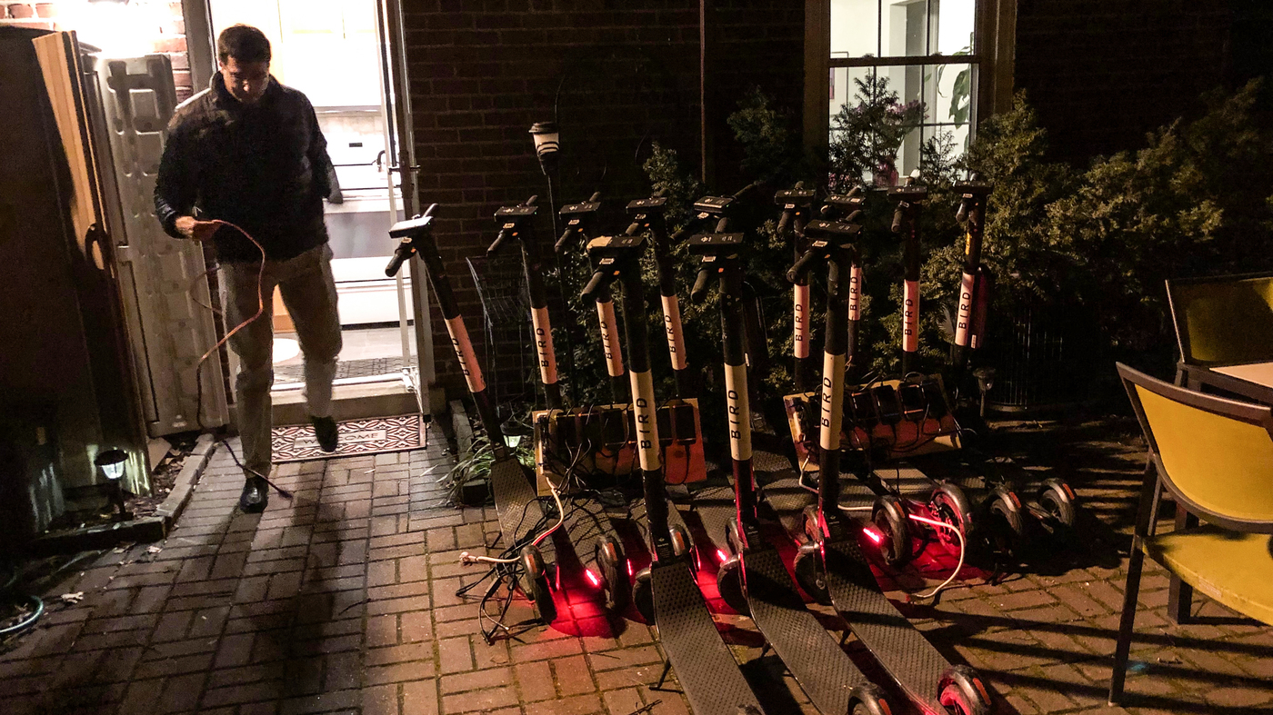 Electric Scooters: This Guy Juices Up Limes And Birds Each Night : NPR