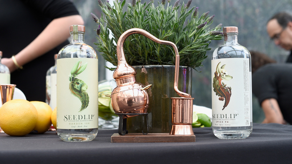 Seedlip, a distilled nonalcoholic spirit, was created when Ben Branson came across a 17th-century book that contained nonalcoholic remedies for a variety of maladies — from epilepsy to kidney stones. (Kevork Djansezian/Getty Images)