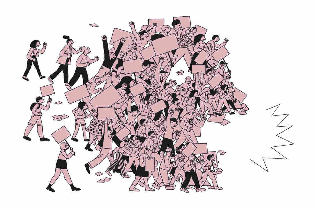 Teachers on strike.