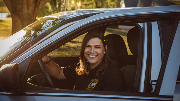 Anna Lange, who works for the sheriff