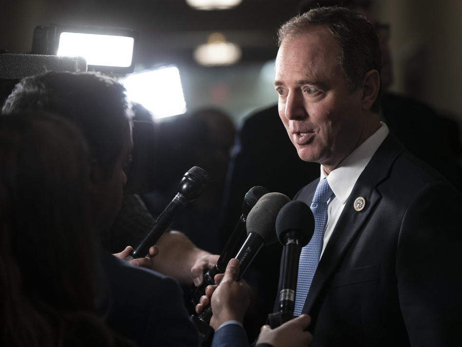 Rep. Adam Schiff, D-Calif., chairman of the House intelligence committee, argues there's already sufficient evidence in public to support an indictment of President Trump. (J. Scott Applewhite/AP)