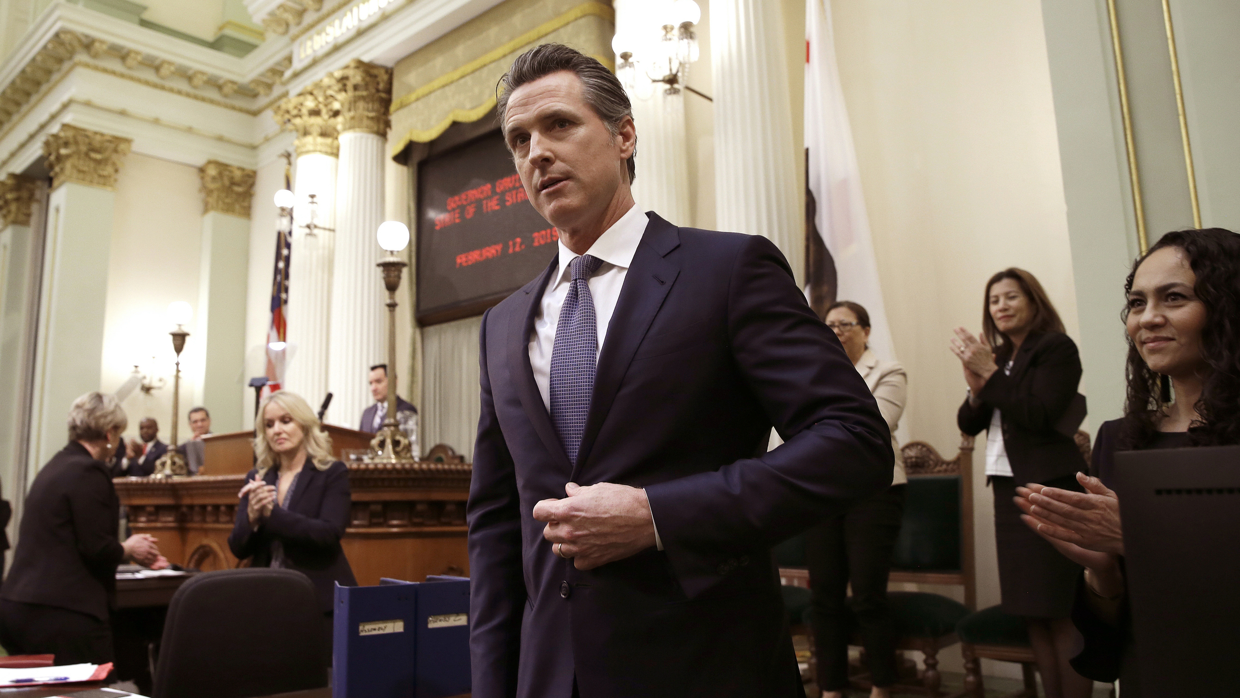 Gov. Gavin Newsom will sign an order on Wednesday imposing a moratorium on California's death penalty.