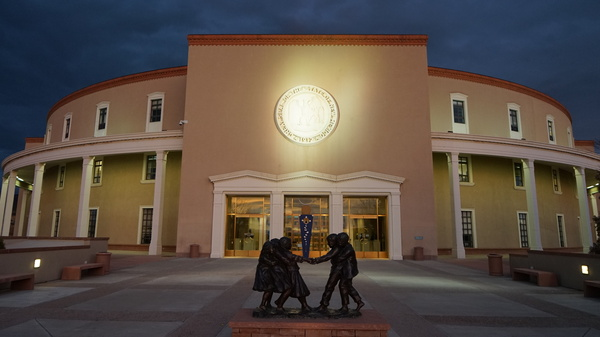 "New Mexico's ""Roundhouse,"" as locals call it, has been busy during the legislature's 60-day session."
