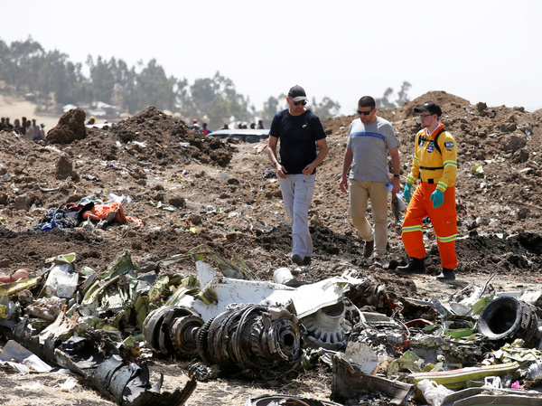 Relatives of the 157 people who died in Sunday's crash of a Boeing 737 Max 8 were allowed to visit the site of the disaster Wednesday.
