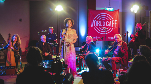 Chieftains peforming for World Cafe at Windmill Lane Recording Studios in Dublin, Ireland