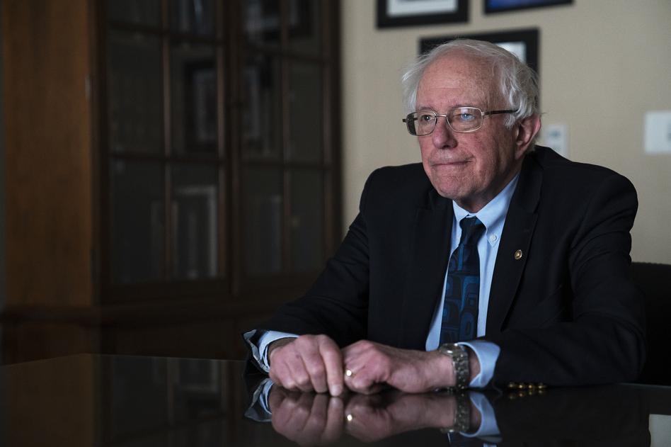 2020 presidential candidate Sen. Bernie Sanders spoke with NPR. (Amr Alfiky/NPR)