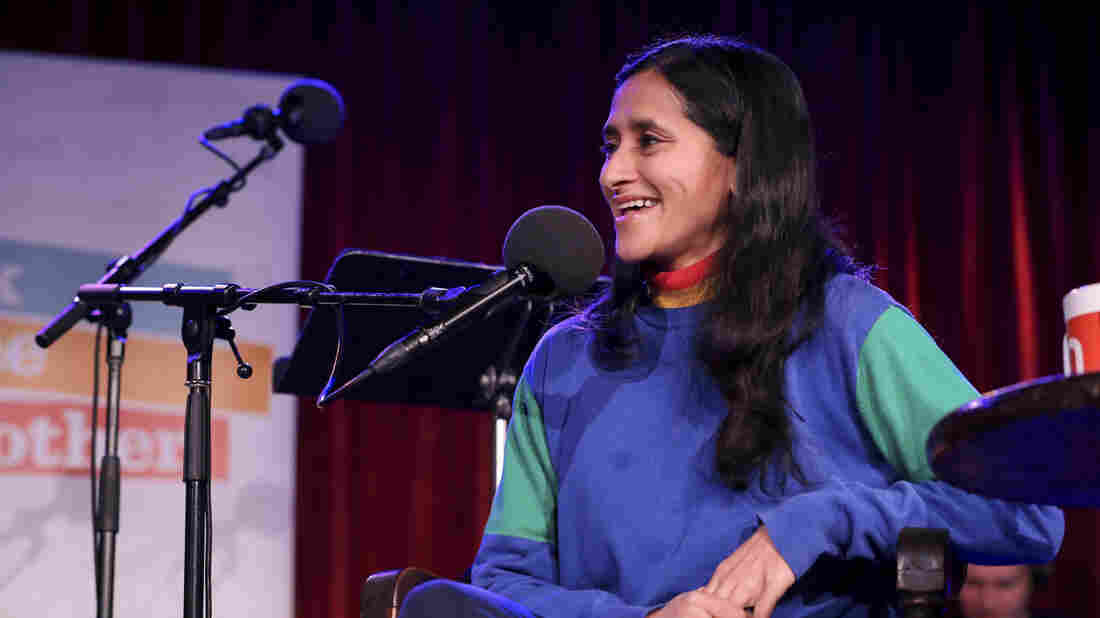 Aparna Nancherla appears on Ask Me Another at the Bell House in Brooklyn, New York.