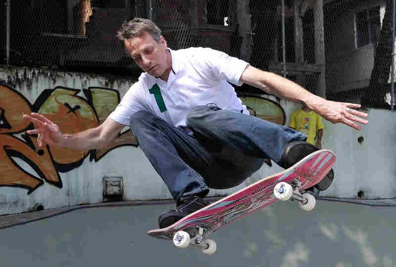 Tony Hawk skateboards in Rio de Janeiro, Brazil, on March 11, 2013.