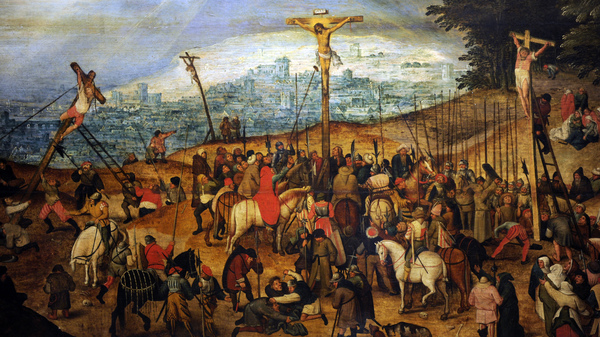 Art thieves tried to steal a painting by Pieter Brueghel the Younger (1564-1638), but the artwork, titled The Crucifixion, had been switched out for a copy.