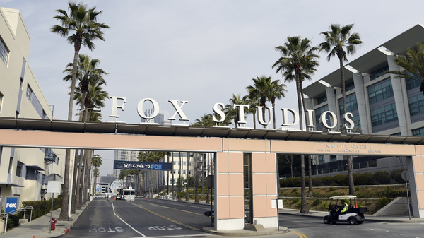 The exterior of Fox Studios is pictured Tuesday in Los Angeles. Disney