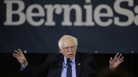 Sen. Bernie Sanders, appearing at a campaign stop in Concord, N.H., raised about $6 million in the first day of his 2020 presidential campaign, which was evidence that he has maintained strong grassroots support.