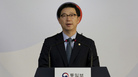 South Korean Vice Unification Minister Chun Hae-sung speaks during a news conference at the Unification Ministry in Seoul, South Korea, on Friday after North Korea abruptly withdrew its staff from an inter-Korean liaison office in the North.