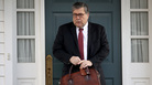 Attorney General William Barr departs his home on Friday in McLean, Va. Barr notified Congress that he has received special counsel Robert Mueller's report on his investigation into Russian interference in the 2016 election.