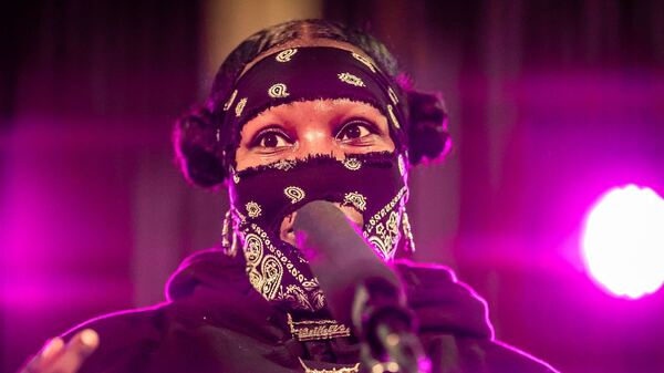 Leikeli47 performing live at the Tiny Desk Family Hour