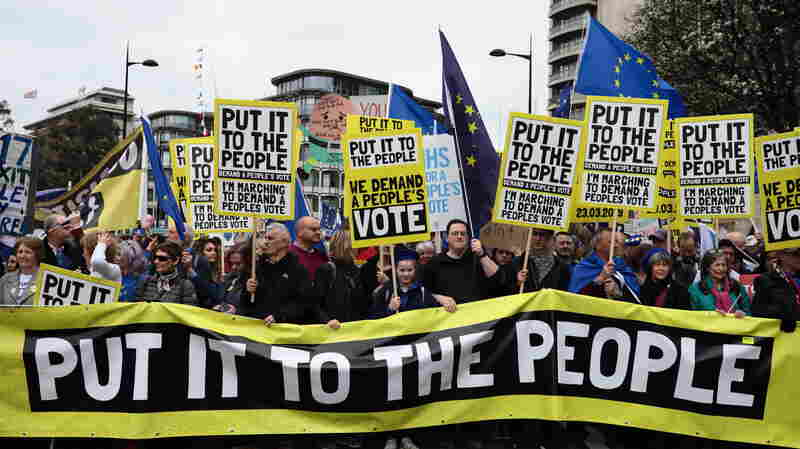 March In London Demanding A Second Brexit Vote Draws Huge Crowds