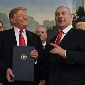 Trump Formally Recognizes Israeli Sovereignty Over Golan Heights