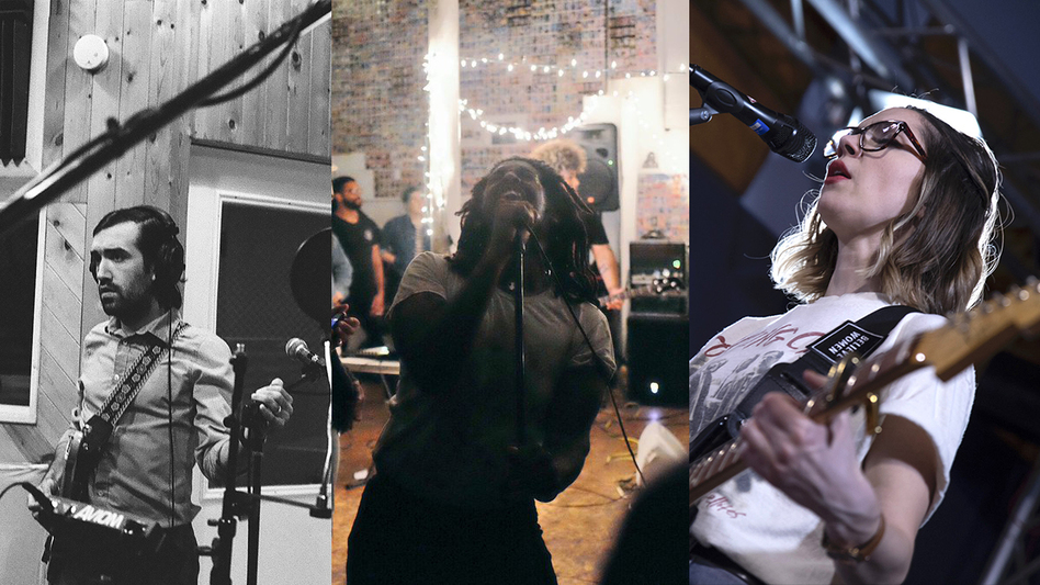 American Trappist (left), Soul Glo (middle) and Kayleigh Goldsworthy bring captivating emotional perspectives to their songwriting. (Photos by Kara Donnelly and John Vettese/WXPN)