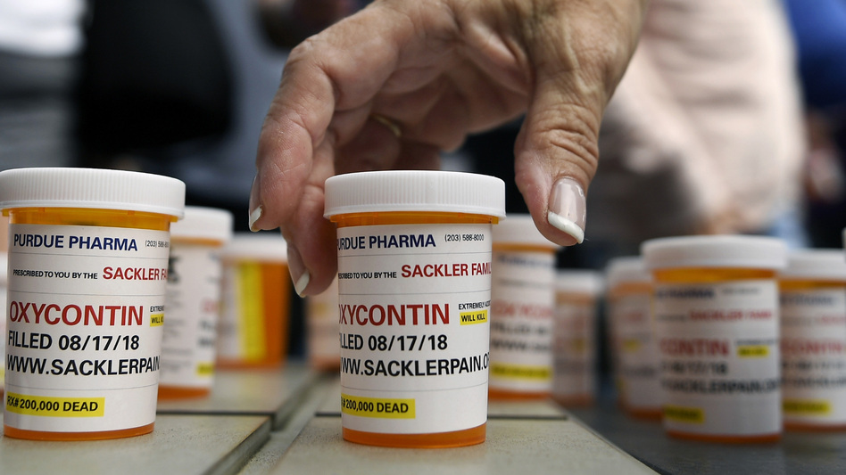New York on Thursday sued the billionaire Sackler family behind OxyContin, joining a growing list of state and local governments alleging the family's company, Purdue Pharma, sparked the nation's opioid crisis by putting hunger for profits over patient safety. (Jessica Hill/AP)