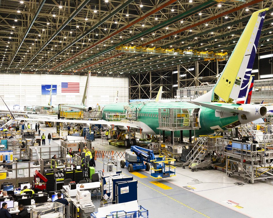 Boeing continues making the planes at its 737 Max assembly plant in suburban Renton, Wash. (Jenny Riffle for NPR)