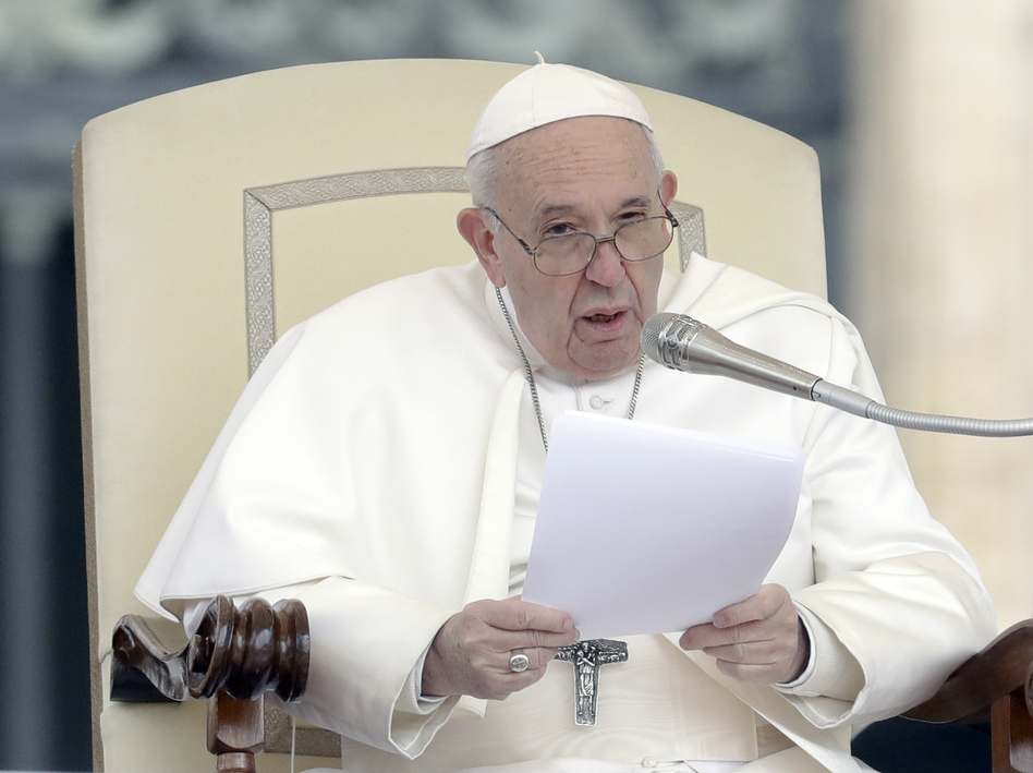 Pope Francis, pictured earlier this week, unveiled a new mandatory-reporting edict on Friday. It requires any Vatican official who learns of an allegation of abuse within the city-state or by Vatican officials to report it to Vatican prosecutors. (Andrew Medichini/AP)