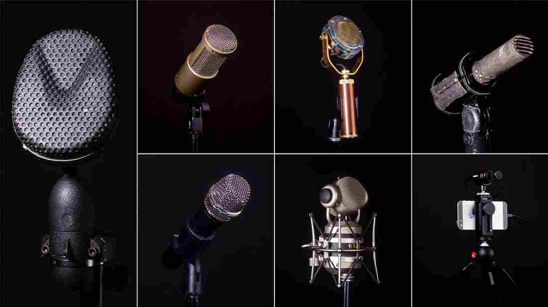 A collection of microphones.