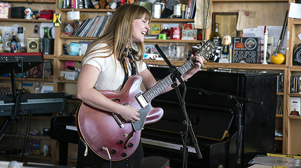 Courtney Marie Andrews performs a Tiny Desk Concert on Feb. 2, 2019 (NPR).